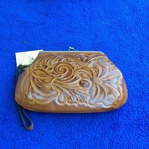 Patricia Nash Tooled Clutch Wristlet Wallet  NWT